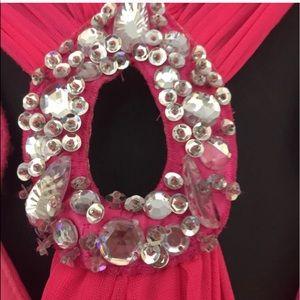 B Darlin Dresses - B Darlin |  Hot Pink Cutout Dress